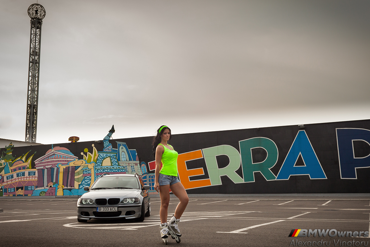 Bimmer and Babe: BMW E46 Touring si Andreea
